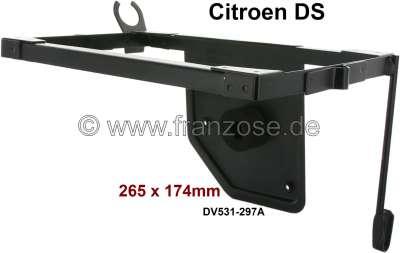 Citroen-DS-11CV-HY Batteriehalterahmen (aus Blech). Passend für Citroen DS, mit Vergasermotoren. Innenmaß für