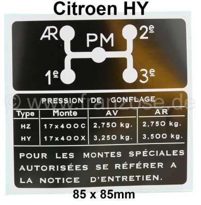 Citroen-DS-11CV-HY Aufkleber, für das Schaltschema