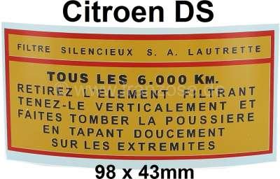 Citroen-DS-11CV-HY Aufkleber