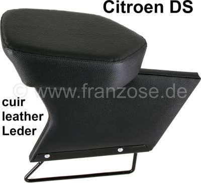 Citroen-DS-11CV-HY Mittelarmlehne, passend für Citroen DS. Leder schwarz.