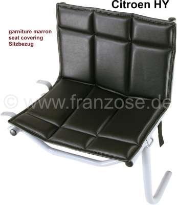 Citroen-DS-11CV-HY Kindersitz Sitzbezug, Leder schwarz. Passend für Citroen HY. Passend für Kindersitzgestell