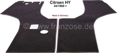 Citroen-DS-11CV-HY Teppichsatz Velour dunkelgrau. Passend für Citroen HY, ab Baujahr 04/1969. Sehr hochwertig