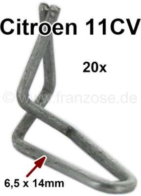 Citroen-DS-11CV-HY Klammernset (20 Stück) für die Türzierleisten (für alle 4 Türen). Passend für Citroen 11CV