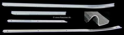 Citroen-DS-11CV-HY Schwellerverkleidung (Schutz) für den Türeinstieg. Passend für Citroen 11CV BL. Kompletter