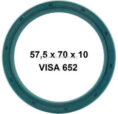 Sonstige-Citroen Simmerring Kurbelwelle hinten für Citroen VISA 652. Maße: 57,5x70x10mm