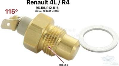 Renault Temperaturschalter für die Kühlwasserwarnlampe. Gewinde: M18 x 1,5. Schaltpunkt: 115°. Pas