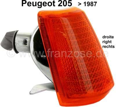 Peugeot P 205, Blinkerkappe vorne rechts bis 1987. Peugeot 205.