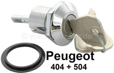 Peugeot P 404/504, Kofferraumschloss komplett. Nur passend für Limousine. Achtung: Passt nicht an
