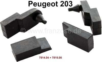 Peugeot P 203, Kühlergrill Befestigungsgummis (4x). Passend für Peugeot 203. Or. Nr. 7814.04 + 781