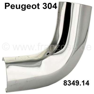 Peugeot P 304, Chromecke oben rechts, Heckfenster Peugeot 304. Original, kein Nachbau. Or. Nr. 834
