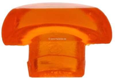 Peugeot Leuchtendeckel halb (Pilzform), Farbe orange. Diese pilzförmigen Leuchten waren an vielen
