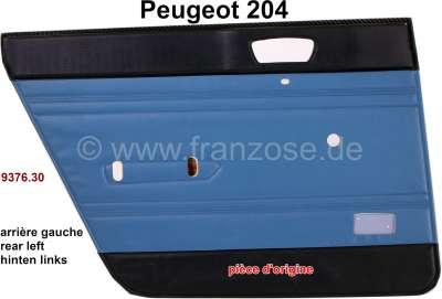 Peugeot P 204, Türverkleidung hinten links. Farbe: Kunstleder blau-grün (Turquoise 3172). Passend