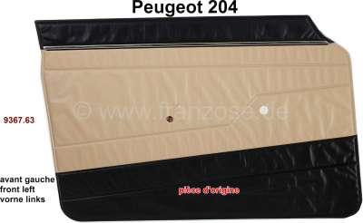 Peugeot P 204, Türverkleidung vorne links. Farbe: Kunstleder beige-schwarz (isard 3147). Passend f