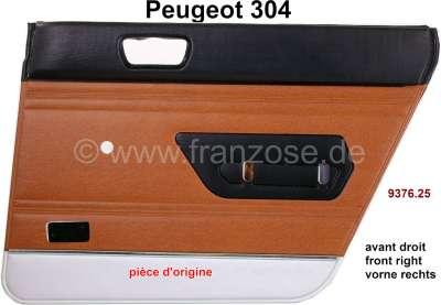 Peugeot P 304, Türverkleidung hinten rechts. Farbe: Kunstleder braun-schwarz (ambre 3309). Passend