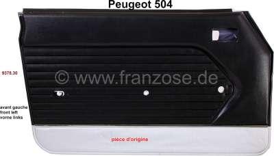 Peugeot P 504, Türverkleidung vorne links. Farbe: Kunstleder schwarz-silber (noir 3000). Passend f
