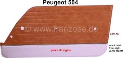 Peugeot P 504, Türverkleidung vorne rechts. Passend für Peugeot 504. Material: Kunstleder. Farbe: