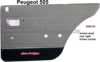 Peugeot P 505, Türverkleidung hinten rechts. Farbe: Kunstleder grün (Haupt- und Mittelteil 3484, U