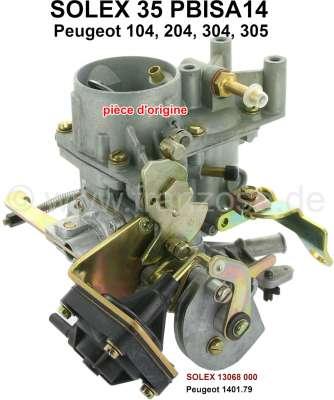Peugeot P 104/204/304/305, Vergaser Solex 35PBISA14 (kein Nachbau). Passend für Peugeot 104, 205,
