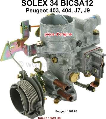 Peugeot P 403/404, Vergaser Solex 34BICSA12 (kein Nachbau). Vergaser Durchmesser: 34mm. Passend fü