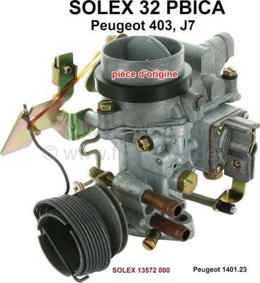 Peugeot P 403/J7, Vergaser Solex 32PBICA (kein Nachbau). Vergaser Durchmesser: 32mm. Passend für P