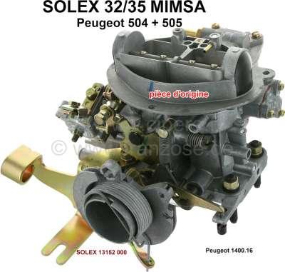 Peugeot P 504/505, Vergaser Solex 32/35 MIMSA Doppelvergaser (kein Nachbau). Passend für Peugeot 5