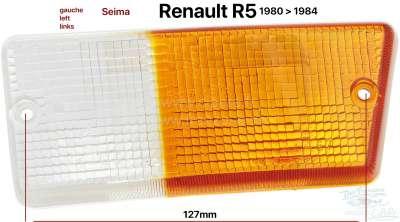 Renault R5, Blinkerkappe vorne links, passend für Renault R5, von Baujahr 1980 bis 1984. Leuchtenh
