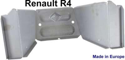 Renault R4, Mittelteil der Spritzwand vorne am Chassis. Passend für Renault R4. Das Blech ist elek