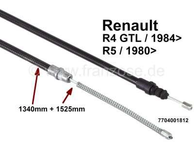Renault R4, Handbremsseil, hinten links + rechts passend (per Stück). Passend für Renault 4 GTL, a