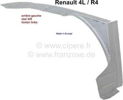 Renault R4, Innenkotflügel hinten, Reparaturblech links. Das ist die äußere umlaufende Kante! Ansc
