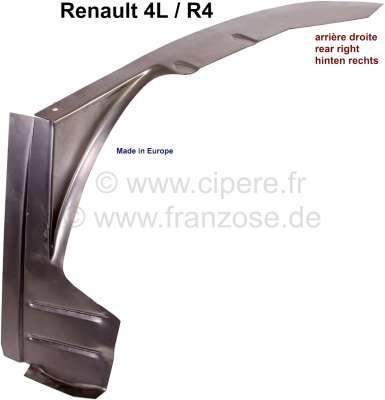 Renault R4, Innenkotflügel hinten, Reparaturblech rechts. Das ist die äußere umlaufende Kante! Ans