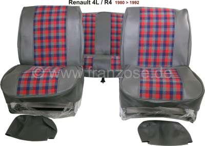 Renault R4, Sitzbezüge vorne + hinten (als Ersatz für die defekten Sitzbezüge), aus Kunstleder + S