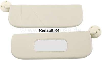 Renault R4, Sonnenblende (1 Paar), beige . Passend für R4.