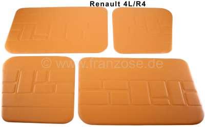 Renault R4, Türverkleidung (4 Stück) Kunstleder braun-beige (Camello). Passend für Renault R4.