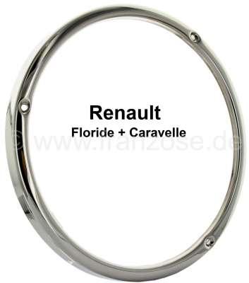 Renault Floride/Caravelle, Scheinwerfer Chromring. Per Stück. Passend für Renault Floride + Carave