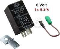 Blinkrelais 6 Volt, elektronisch. Leistung 10 bis 110Watt! Universal einsetzbar für 6 Volt Anlagen. Auch für Anhängerkupplung! - 14366 - Der Franzose