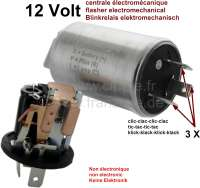 Blinkrelais rund, elektromechanisch. 12 Volt. 3 polig. Dieses Blinkrelais ist elektromechanisch, und nicht elektronisch! Dadurch ist es unempfindlich gegen Spannungsschwankungen und es macht noch richtig Klick-Klick Geräusche (so wie früher). Passend für Citroen 2CV, Dyane, Mehari, AMI, DS, HY. Peugeot + Renault. Stromversorgung Symbol (+, X oder B). Anschluß Blinker vorne + hinten = Symbol ( C oder L ). Anschluß Kontrollleuchte Armaturenbrett = Symbol ( R oder P ). Dieses Blinkrelais wird exclusiv für uns angefertigt!! - 14361 - Der Franzose
