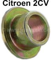 2CV6, Endrohr, Metallhülse für die Gummistreifen, womit die Auspuffrohre befestigt sind. (dann reißen die Gummis nicht mehr so schnell). Passend für Citroen 2CV6 + 2CV4. | 11118 | Der Franzose - www.franzose.de