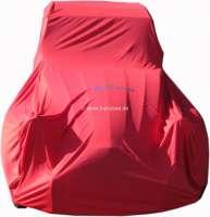 Autocover in rot für 2CV. Kunstfaser, luftdurchlässig, staubbindend. Speziell für 2CV genäht, kein universal Cover! Das Autocover ist für Indoor (Garage), nicht für außen geeignet! -2 - 20900 - Der Franzose