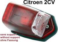 Blinkerkappe seitlich, oben an der C-Säule. Farbe: Rot. Passend für Citroen 2CV (50iger Jahre). Nachbau ohne Prüfzeichen. Per Stück. - 14067 - Der Franzose
