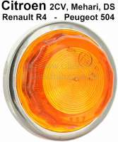 Seitenblinker an den Kotflügeln (nur die Blinkerkappe). Exakte Kopie der original verwendeten Blinker. Verbaut nur in Italien und teilweise Spanien. Diese Blinker wurden bei dem Citroen 2CV, Mehari und DS verbaut. Teilweise auch an Renault R4 und Peugeot 504. - 14661 - Der Franzose