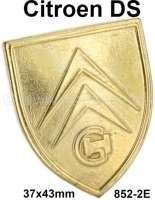Motorhaubengriff Emblem. Passend für Citroen DS. Nachfertigung, wie original! Or. Nr.852-2E | 37677 | Der Franzose - www.franzose.de