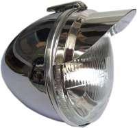 Scheinwerferschirmchen (1 Paar) für Citroen 2CV. Material: Aluminium eloxiert. Wir lassen die Scheinwerferschirmchen in Deutschland anfertigen! | 16810 | Der Franzose - www.franzose.de