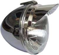 Scheinwerferschirmchen (1 Paar) für Citroen 2CV. Material: Aluminium eloxiert. Wir lassen die Scheinwerferschirmchen in Deutschland anfertigen! - 16810 - Der Franzose