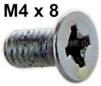 2CV, Kofferraumdeckel - Scharnier Abschlußecke, Senkkopfschraube M4x8. | 17118 | Der Franzose - www.franzose.de