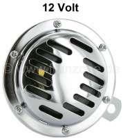 Hupe, 12Volt. Universal passend. Durchmesser 100mm! Die Hupe ist verchromt. - 14160 - Der Franzose