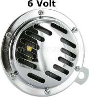Hupe 6 Volt. Universal passend. Durchmesser: Ca. 100mm. Komplett aus Metall angefertigt. - 90917 - Der Franzose