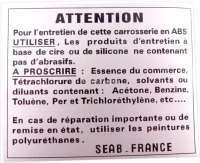 Aufkleber Karosserie, 4 sprachig, für Mehari 4x4 -1 - 16344 - Der Franzose