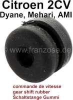 Schaltstangen Gummihülse, für Citroen 2CV, alle Modelle. Sehr oft ist dieses Gummi gerissen, und der 2CV lässt sich schlecht schalten, oder das Schaltgestänge rasselt. | 16012 | Der Franzose - www.franzose.de