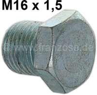 Getriebe Ölschraube + Einfüllschraube. Gewinde M16. Passend für Citroen 2CV. - 10620 - Der Franzose