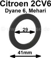 Bremsflüssigkeitsbehälter Dichtung für den Verschlußdeckel (2 Kreis). Passend für Citroen 2CV, mit LHM 2 Kreis Bremsanlage. - 13232 - Der Franzose
